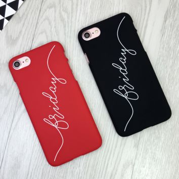 Trendy Black & Red Friday Print Iphone 7 7plus &6 6s Plus Cover Case + Gift  Box