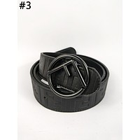 Fendi tide brand female F letter ring buckle wild simple belt #3