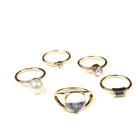 Crystal Clear Ring Stack