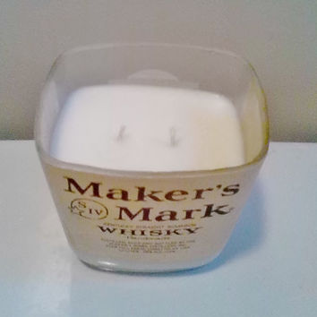 Makers Mark Kentucky Straight Bourbon Whiskey Bottle Unique All Natural Soy Candle