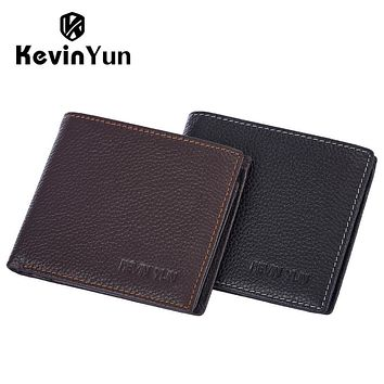 Fashion Designer Men Wallets Genuine Leather Wallet Large Capacity Male Pocket Purse with Coin Pocket