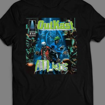 "HIP HOP GROUP OUTKAST ALBUM ""ATLIENS"" COVER  T-SHIRT"