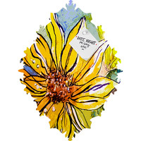 Ginette Fine Art Sunflower Yellow Ribbon Baroque Magnet Board