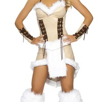 Sexy women Three Piece Indian Maiden Fancy Dress Halloween Costume