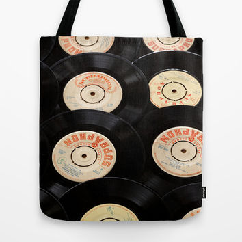 Vinyl Record Tote Bag by TilenHrovatic
