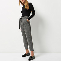 Grey soft tie tapered pants - tapered pants - pants - women