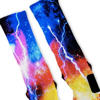 Ballistic Galaxy Customized Nike Elite Socks