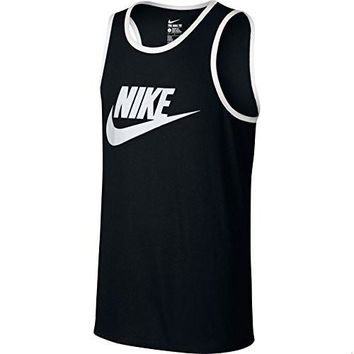Nike Ace Logo Tank Top Black/White/White Men's Sleeveless