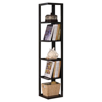 InRoom Designs Five Tier Corner Bookcase