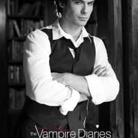 Posters: The Vampire Diaries Poster - Damon Salvatore, B/W Blood (36 x 24 inches)