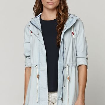 Modern Amusement Chambray Anorak Jacket - Womens Jacket - Blue