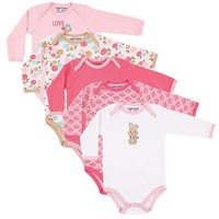 Winter Baby Bodysuit 5PCS Newborn Baby Clothes Body Long Sleeve Jumpsuit Printed Baby Boy Girl Baby Christmas Clothes