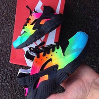 NIKE Huarache Contrast Colorful Fashion Men Running Sport Casual Shoes Sneakers G-AA-SDDSL-KHZHXMKH