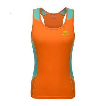 LMFLD1 2017 TECTOP Summer Outdoor Women Quick Dry Vest Sleeveless vest Sports Camping Hiking Running women breathable T-shirt