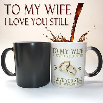 Wedding Anniversary Gift Idea Color Changing Heat Sensitive Magical Ceramic Mug