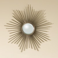 Mini Sunburst Mirror Nickel