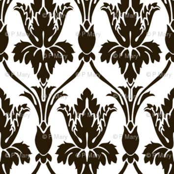 Sherlock Wallpaper White version - Real size! - mellymellow - Spoonflower
