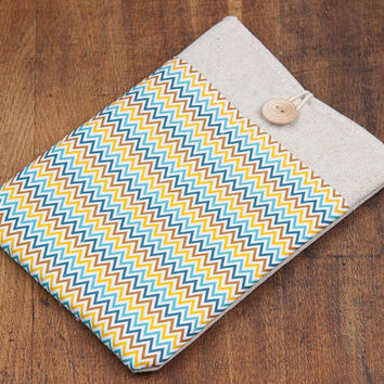 iPad case. iPad mini with retina display or iPad AIR case with chevron pocket, sleeve, bag, pouch. Tablet case. iPad 1 2 3 4 cover.