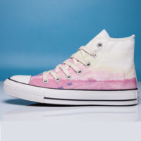 Converse Print All Star Sneakers for Unisex Hight tops sports Leisure Comfort Shoes Pink low tops Blue