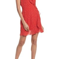 Bardot Polka Dot Ruffle Dress | Nordstrom