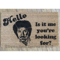 Lionel Ritchie - Hello, is it me your looking for - novelty doormat