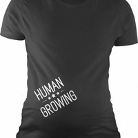 Human Growing Maternity Shirt | CrazyDog T-shirts
