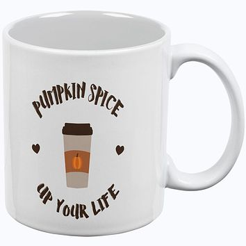 Fall Autumn Pumpkin Spice up your Life All Over Coffee Mug