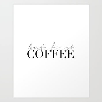 COFFEE BAR DECOR, Coffee Kitchen Decor,Modern Kitchen Art,Modern Print,Coffee Sign,Morning Quote,Ins Art Print by Printable Aleks