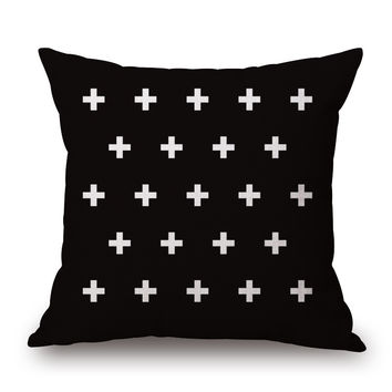 Plus symbol pillow cover
