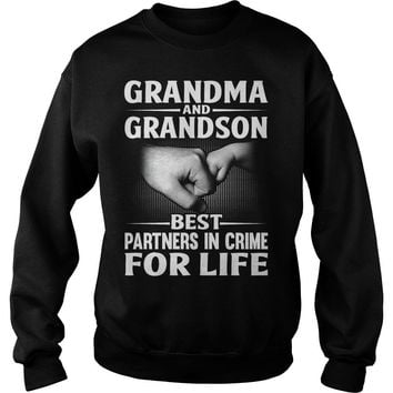 Grandma And Grandson Best Partners In Crime For Life Shirt Sweat Shirt
