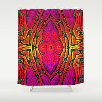 Saturation Overload Shower Curtain by Lyle Hatch