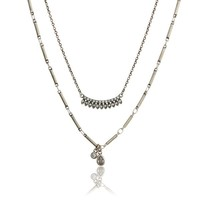 Cosmic Flare Charm Necklace- Silver