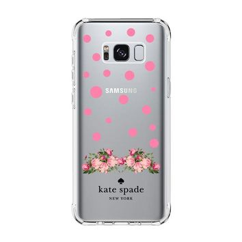 FLORAL POLKADOTS KATE SPADE Samsung Galaxy S4 S5 S6 S7 Edge Clear Case