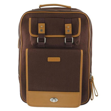 Two-Tone Light Tan Backpack