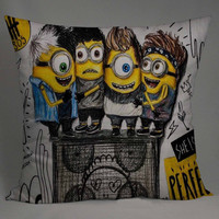 little minions as 5 sos pillow case one side or two side by NyamMug