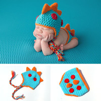 Newborn Dinosaur Knit Outfit