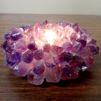 15% off Shipping DELAY Amethyst Point Candle Holder (RK34B1-01)