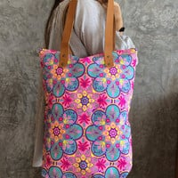 Boho Beach Bag / Tote bag / Canvas Boho bag / Hippie Beach bag / Weekender bag Purse / Bachelorette Party