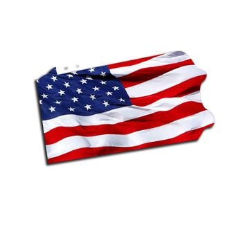 Pennsylvania Waving USA American Flag. Patriotic Vinyl Sticker