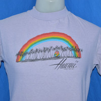 80s Hawaii Rainbow Palm Tree t-shirt Small