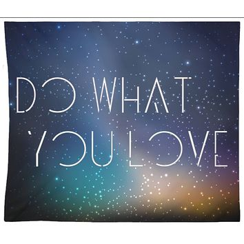 Do What You Love Quote Tapestry Wall Hanging Meditation Yoga Grunge Hippie Wanderlust