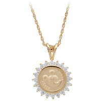Disney Mickey Mouse Gold Coin Necklace | Disney Store