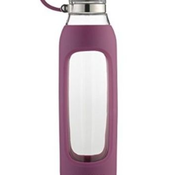 Contigo Purity Glass Water Bottle, 22 oz., Radiant Orchid