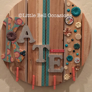 Custom Gift/Birthday Gift/Grandchild Gift/Wooden Customized Name Plaque/ Boy/Girl/Child/Teen/Room Door/Dorm/Themes/Colors/Sports/Palyroom