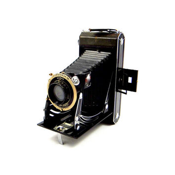 Rare Six-16 Kodak Folding Bellows Camera with Compur Rapid Shutter from 1930s