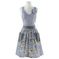 Blue Floral & Stripe Vintage-Inspired Apron | Sur La Table