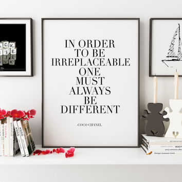 PRINTABLE Art,Coco Chanel Quote,Fashion Print,Fashionista, Quote Prints,Chanel Poster,Chanel Wall Art,Inspirational Quote,Girls Room Decor