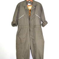 Vintage Coveralls Mechanics Coveralls Jumpsuit Green Coveralls 1960s Sears Nation-Alls Work Jumpsuit Rockabilly Jumpsuit
