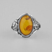 Vintage Amber Garden Ring – REGALROSE | SHOP Fashion Jewellery & Accessories