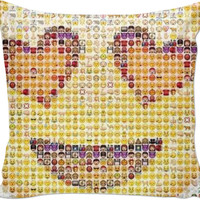 Emoji Made Out Of Emojis Pillow